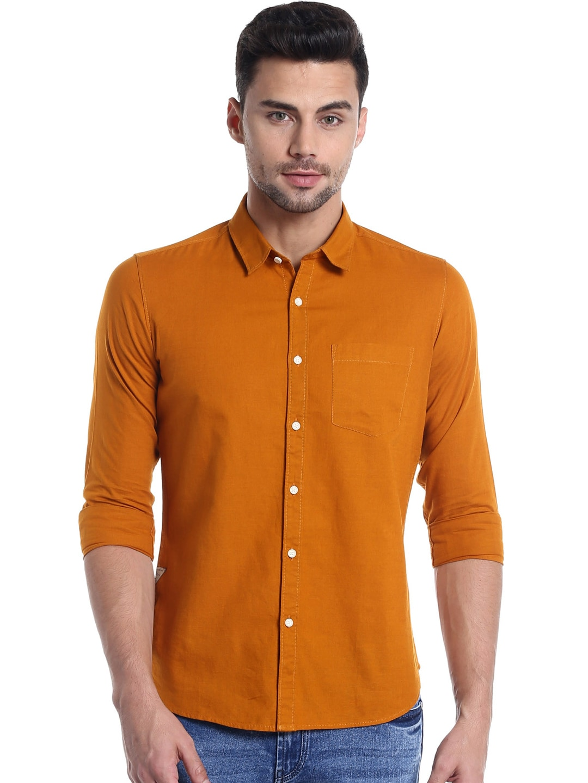 042e02d99d Buy Numero Uno Men Olive Green Slim Fit Solid Casual Shirt - Shirts ...