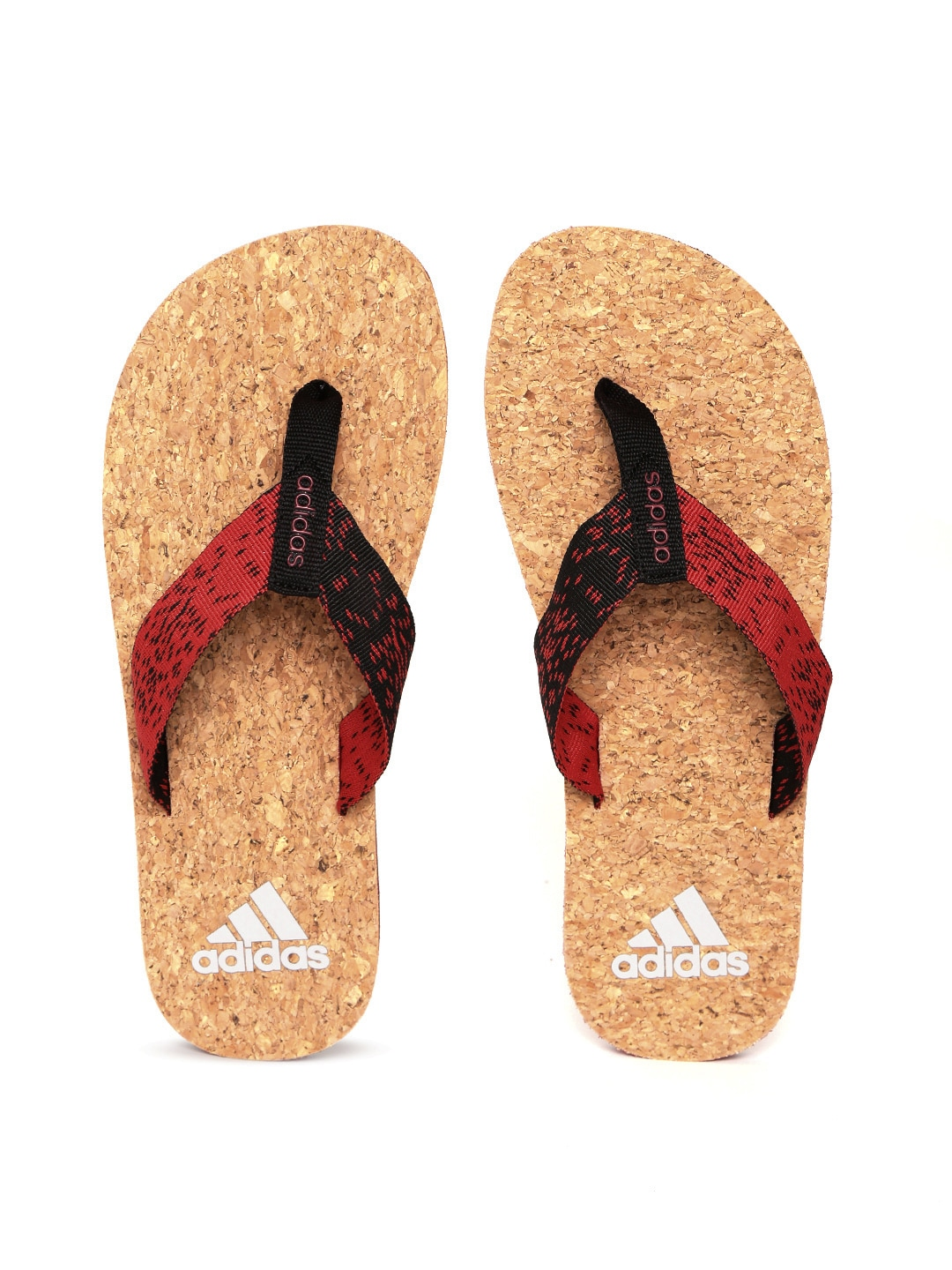 7996289f42201 Adidas Red   Black Beach Cork 2017 Flip Flops for Men online in ...