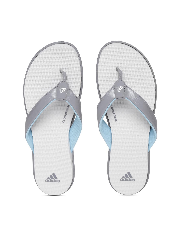 23f159403b0368 ... Women New Exclusive adidas Adilette bath Slippers - Beige Women adidas  Slippers (87349WB) -  Adidas Women Grey Off-White Cloudfoam One Y Flip-Flops  best ...