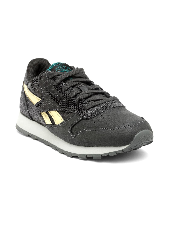 8434f55eea6c Buy Reebok Women Silver Toned CL LTHR SYN Sneakers - Casual Shoes ...