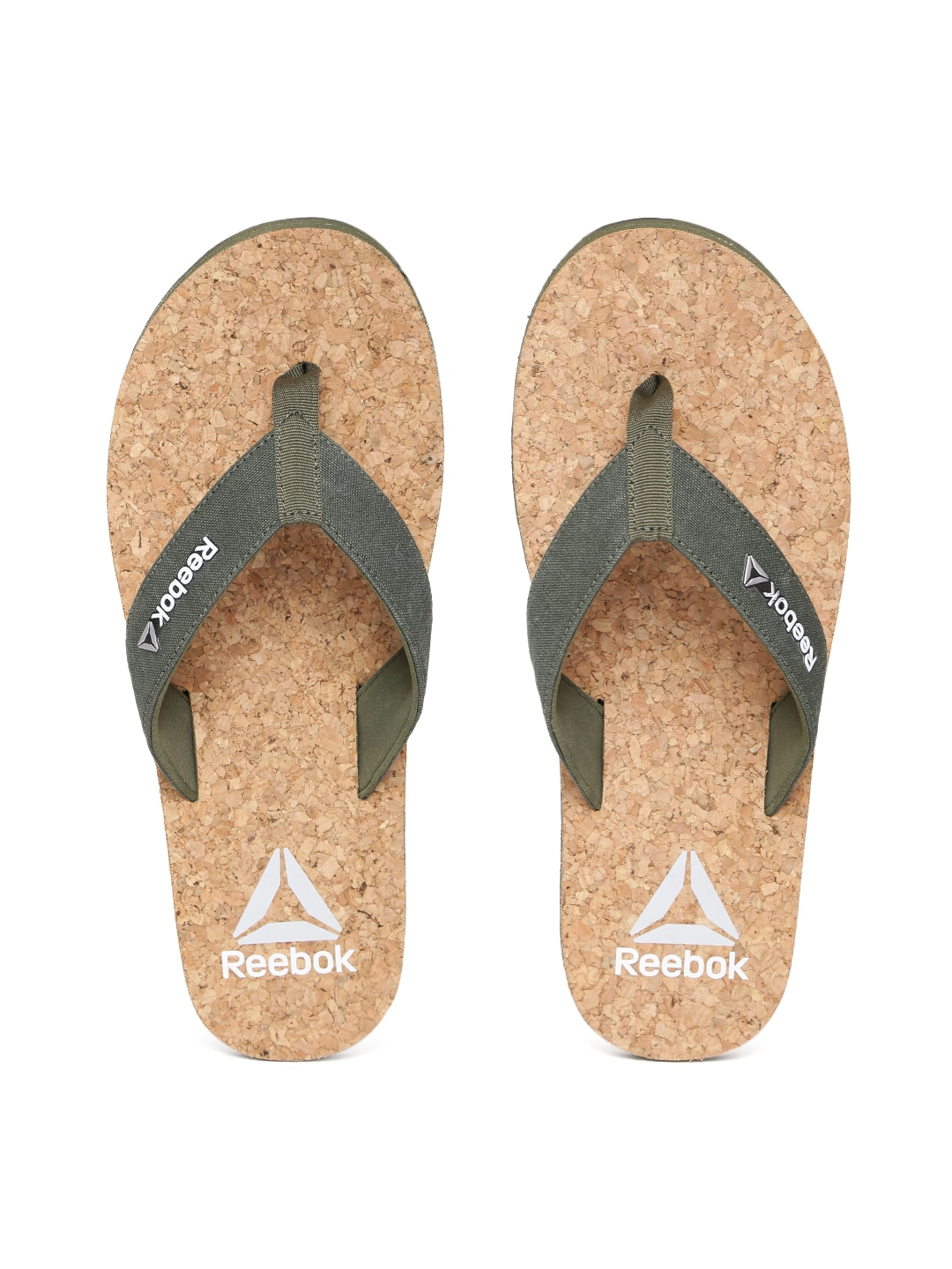 5d6bc0fac Buy Reebok Men Navy   Brown Cork Flip Flops - Flip Flops for Men ...
