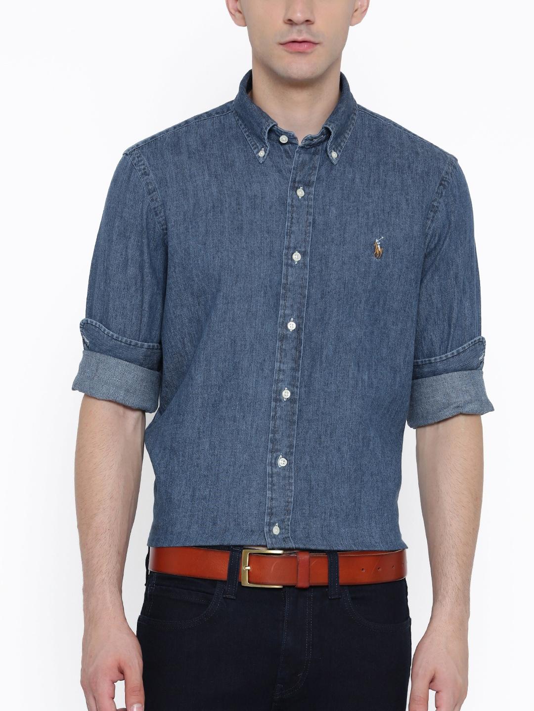 91f6ad922977c Buy Polo Ralph Lauren Slim Fit Denim Sport Shirt - Shirts for Men ...