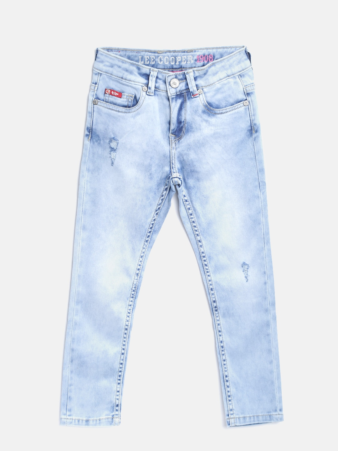 4c9c33d9 Lee Cooper Girls Navy Pearl Skinny Fit Mid-Rise Clean Look Stretchable Jeans