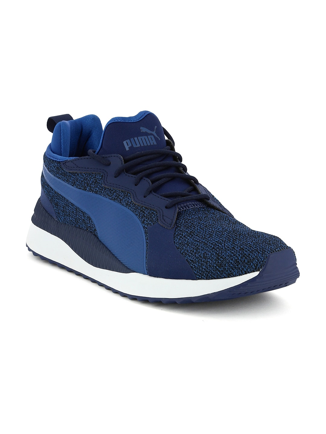 Buy Puma Men Charcoal Grey   Black Pacer Next Tw Knit Sneakers ... bb499a918
