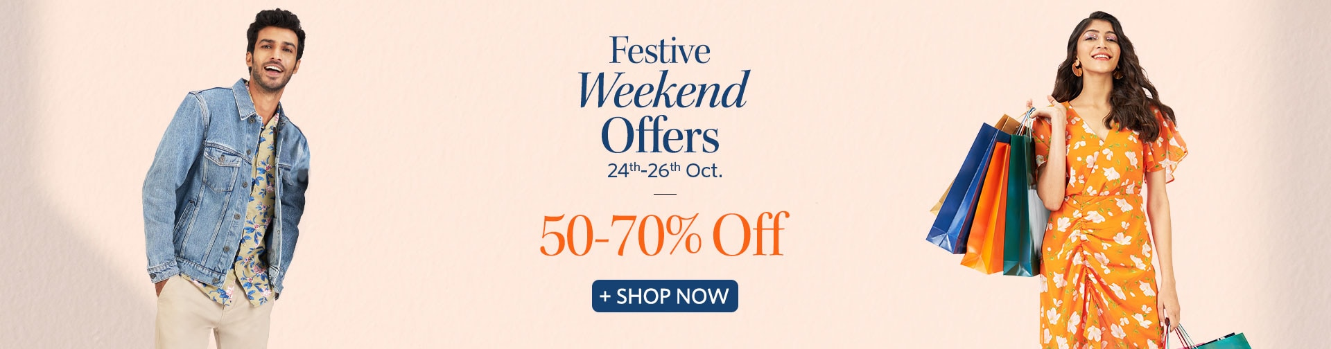 myntra.com - Festive Weekend Offers – Up to 70% discount