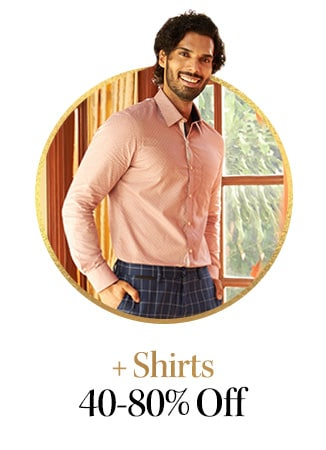 myntra.com - Get Up to 80% discount on Shirts for men