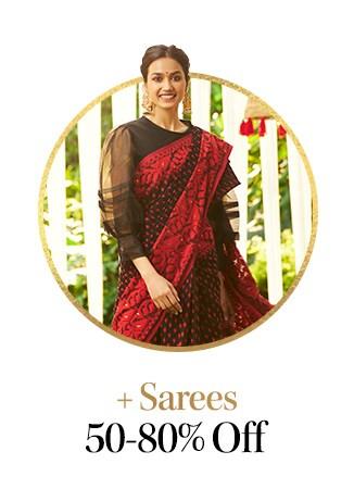 myntra.com - Get Upto 80% discount on Sarees