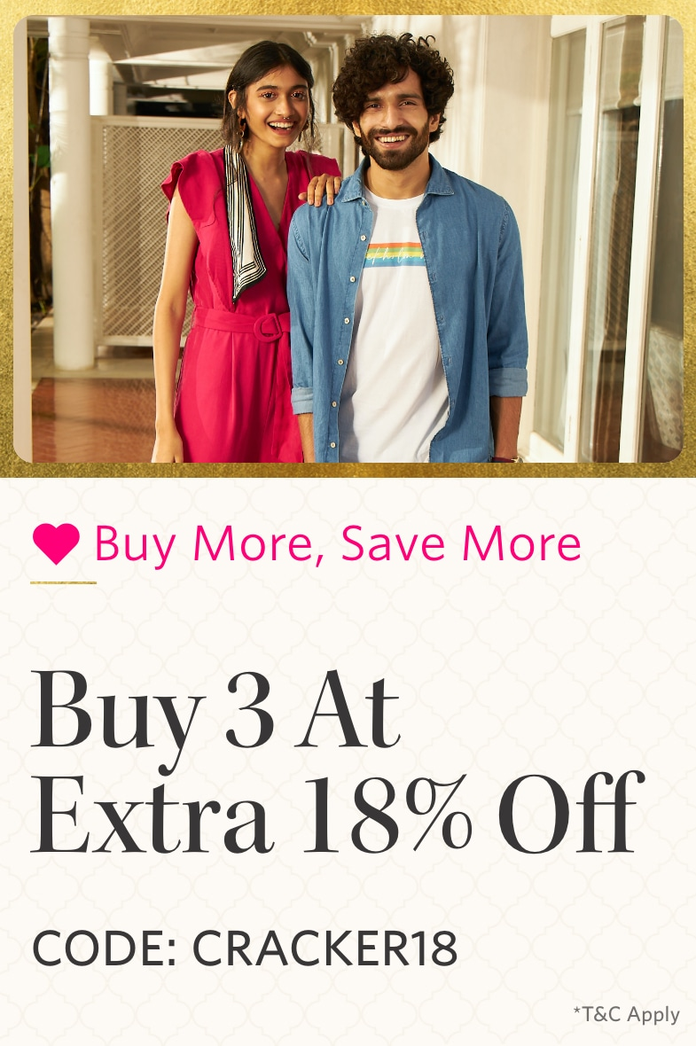myntra.com - Get Additional 18% discount on Purchase of 3 Products