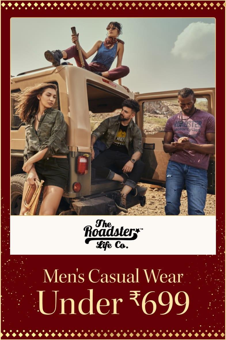 myntra.com - Roadster Men's Casual wear under ₹699