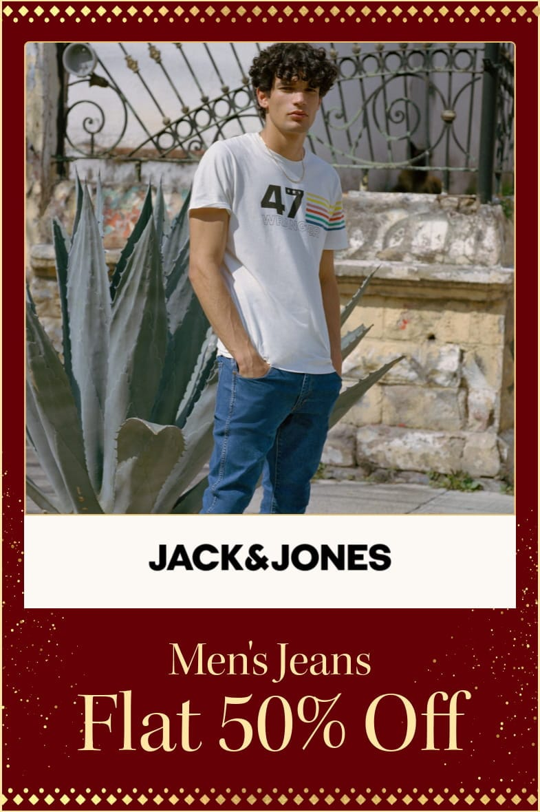 myntra.com - Avail Flat 50% off on Jack and Jones Men's Jeans