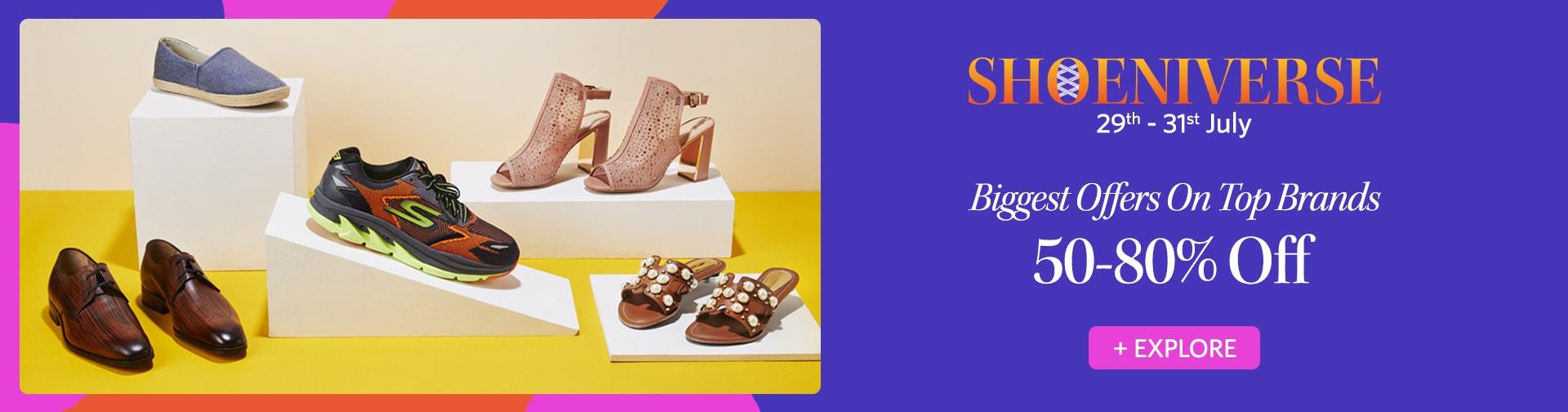 myntra.com - SHOENIVERSE – Get Up to 80% OFF on Footwear