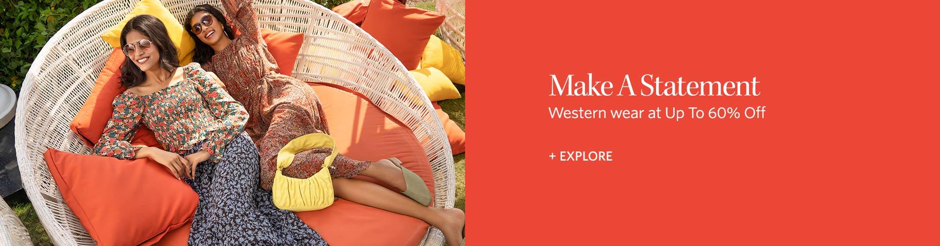myntra.com - Avail Upto 60% discount on Women's western wear