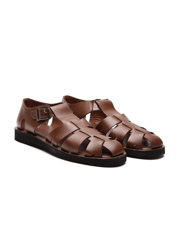 048605f742ff Buy Red Tape Men Brown Leather Gladiators - Sandals for Men 2420136 ...