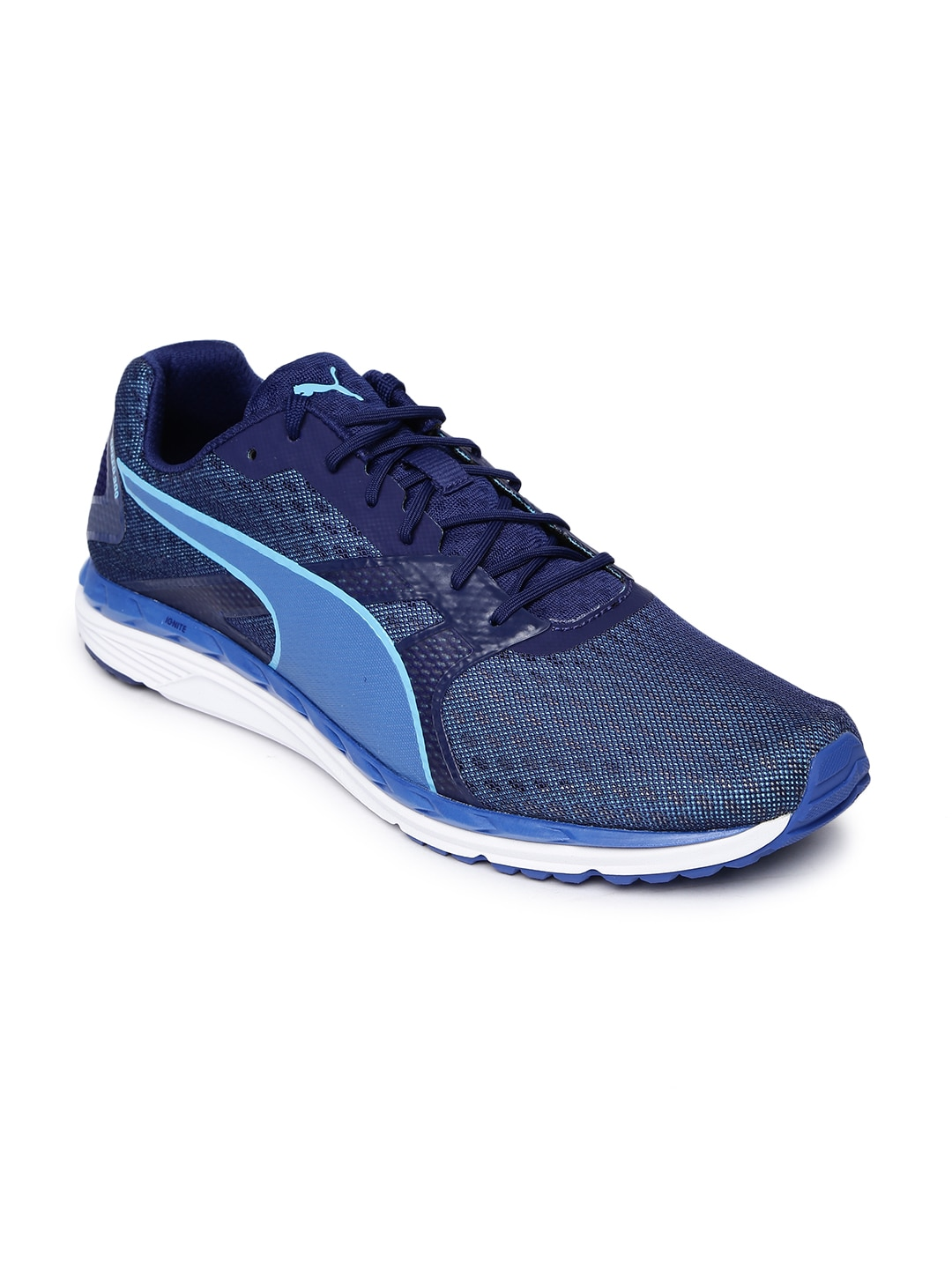 4b3c6dea09a1 Buy Puma Men Blue Speed 100 R IGNITE Running Shoes - Sports Shoes ...