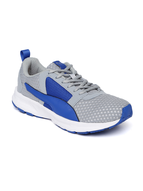 purchase cheap e765b 3220d Puma Men Grey   Blue Deng Running Shoes
