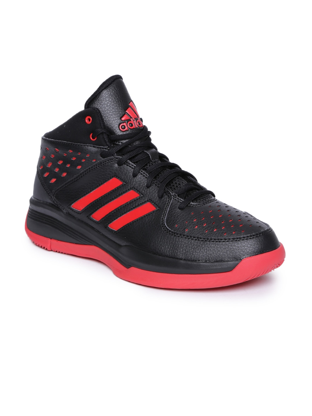 a84cd7c7af21 Buy ADIDAS Men Navy And Fluorescent Green Mid Top Basecut 16 ...