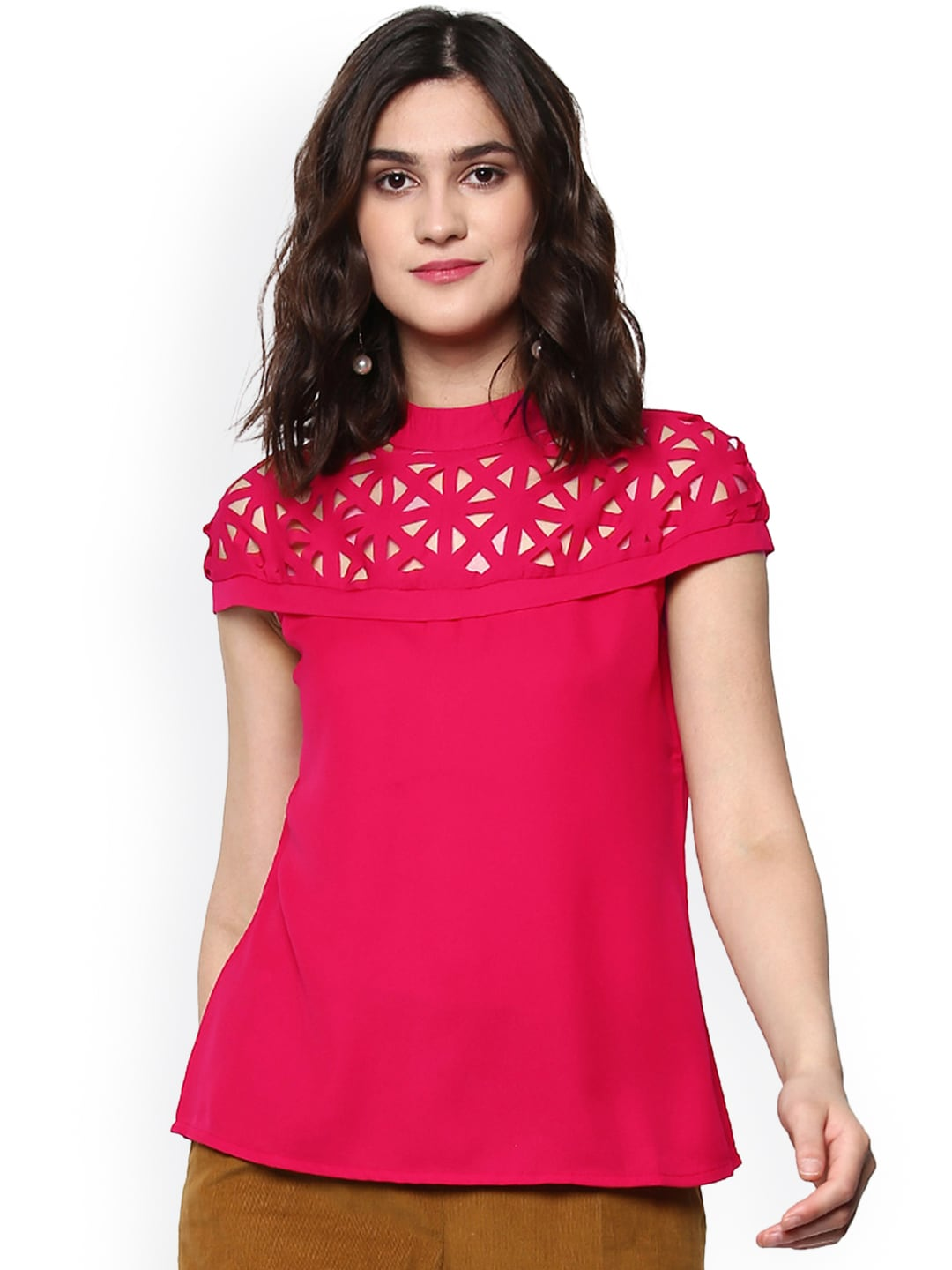 Buy The Vanca Yellow Top Tops For Women 1857894 Myntra Someday Pink Floral Embroidery Sassafras
