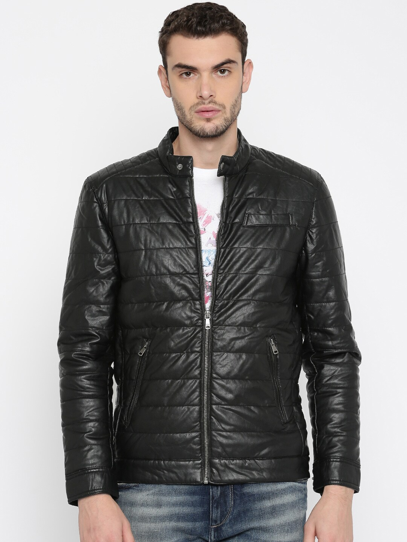 10fe1ceb688e Buy Tom Tailor Men Navy Blue Solid Quilted Jacket - Jackets for Men ...