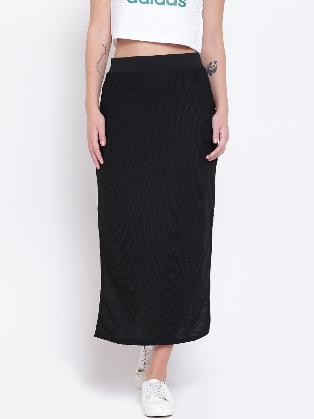 a0ec662ffc071 Buy ADIDAS Originals Black EQT Flared Maxi Skirt - Skirts for Women ...