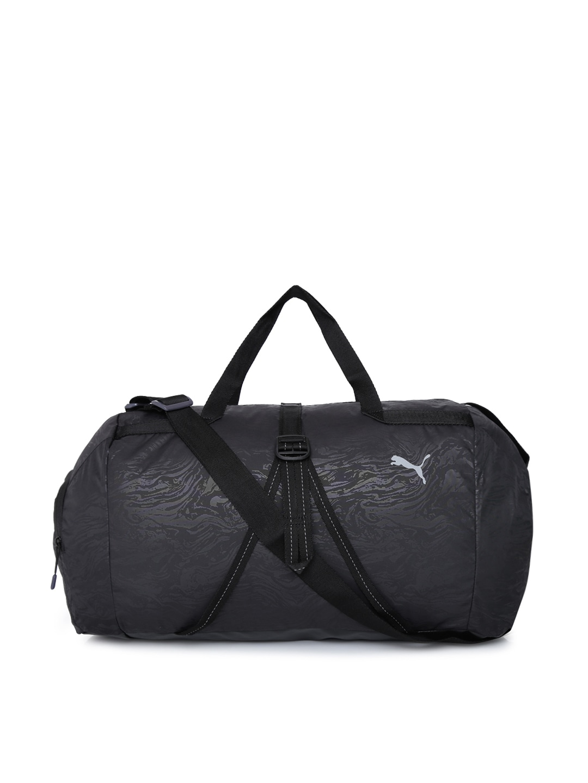 36e797c5f Buy Puma Women Grey Printed Fit AT Sports Duffle Bag - Duffel Bag ...