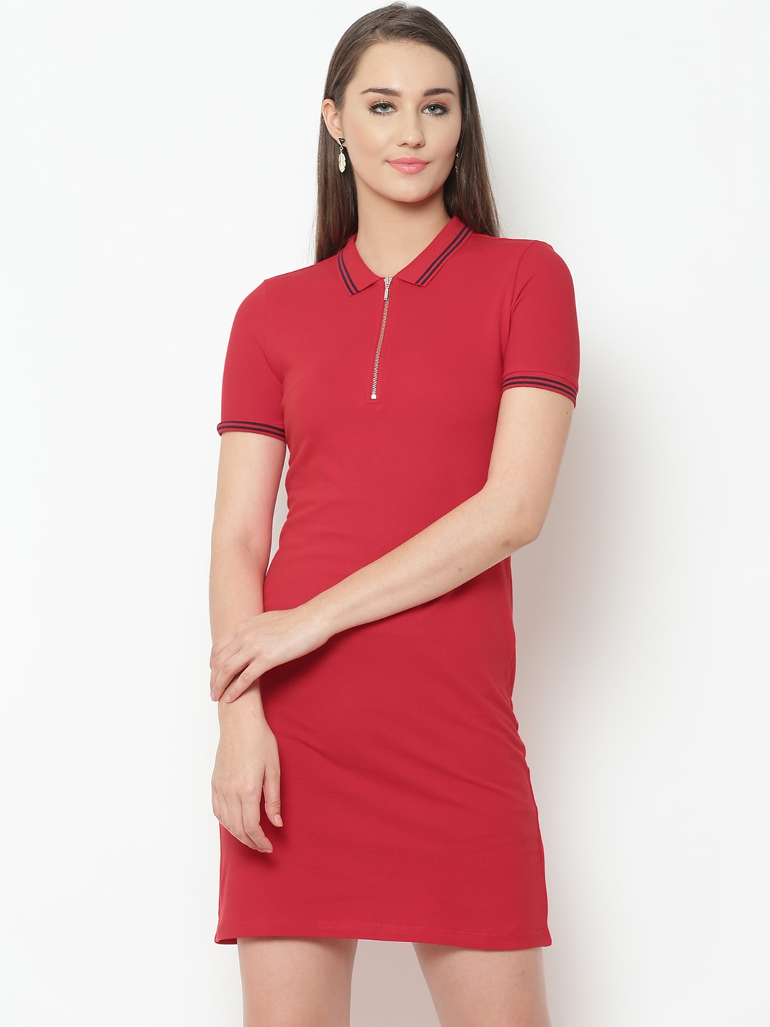 fe67f1e1850 Buy Aeropostale Women Burgundy Solid T Shirt Dress - Dresses for ...