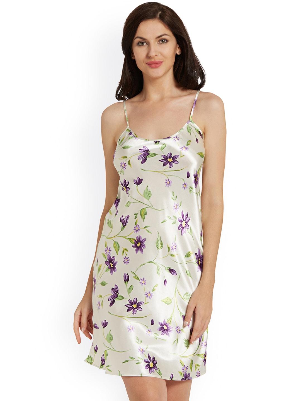 6726499e92d Buy Blush By PrettySecrets Blue Floral Print Chemise Nightdress ...