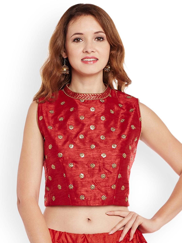 d9f210c86e8 Buy Global Desi Women Maroon Solid Crop Top - Tops for Women 2077032 ...
