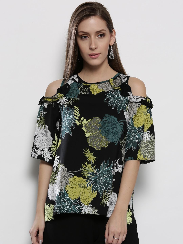 6bd9ba6f1c77b Buy DOROTHY PERKINS Women Black   Pink Ditsy Floral Print Cold ...