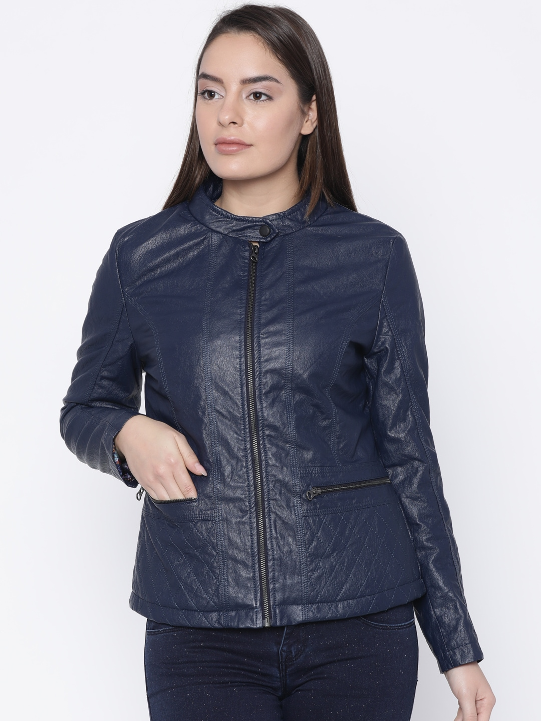 6b3966e5f8d Buy Fort Collins Black Faux Leather Jacket - Jackets for Women ...
