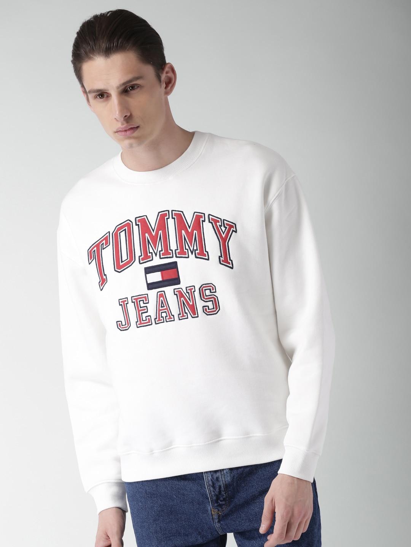 d06d0cdc89ed Buy Tommy Hilfiger LEWIS HAMILTON Men White Solid Flag Sweatshirt ...