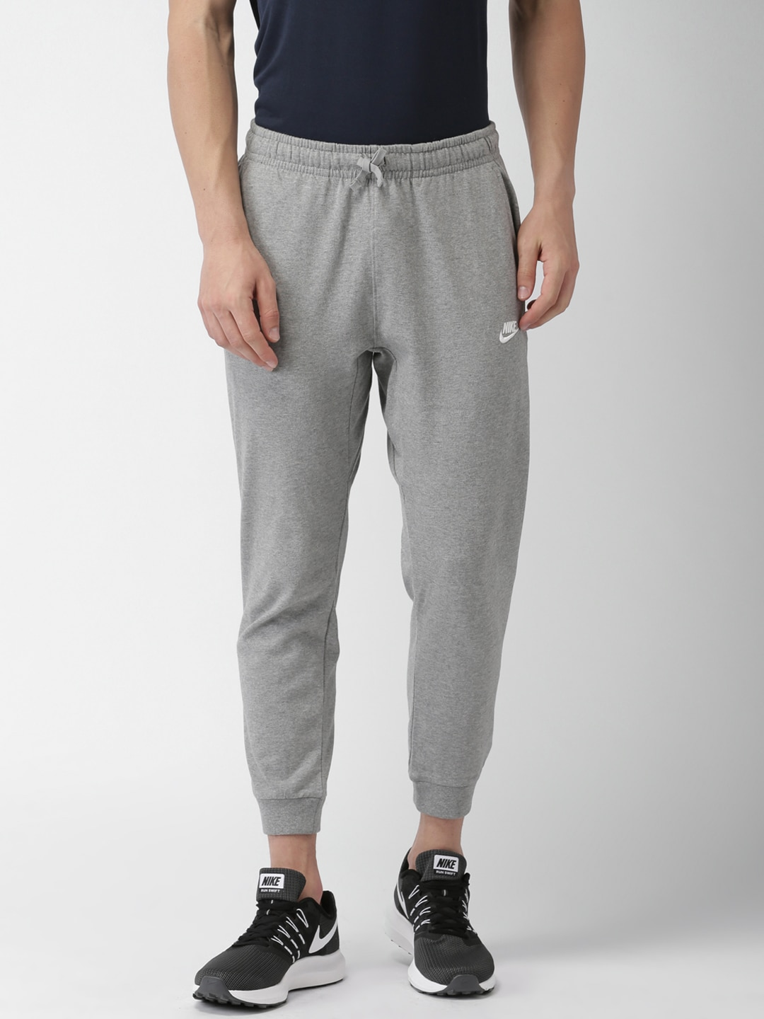 Buy Nike Grey Melange AS M NSW MODERN JOGGER FT Joggers - Track ... 8da85f70d38d