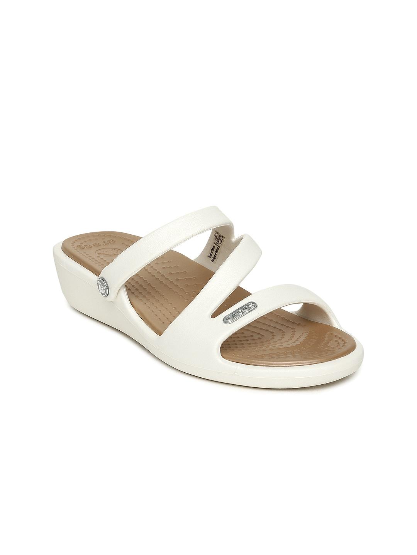 27290bdb9a57 Buy Crocs Women Pink Isabella Mini Wedge Sandals - Heels for Women ...