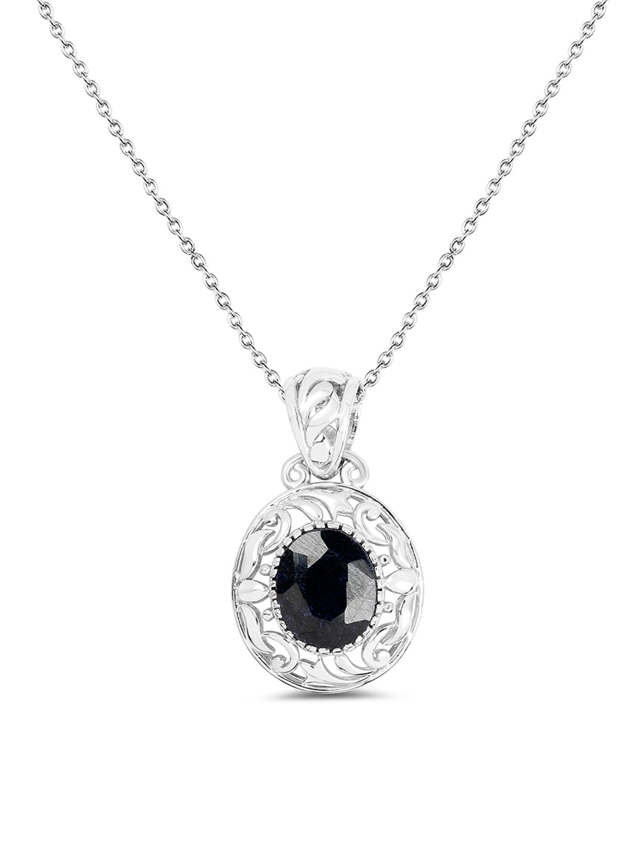 2763389bc270 Buy Mahi Silver Plated Stylish Montana Swarovski Crystal Pendant ...