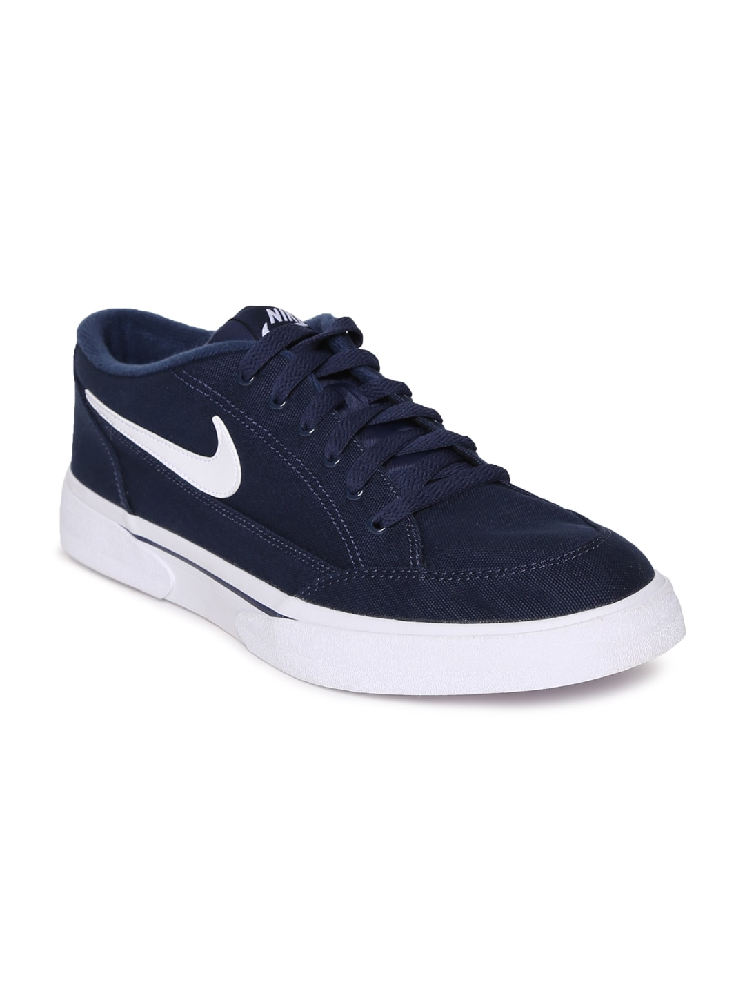 Buy Nike Men Blue Court Borough Low Leather Sneakers - Casual Shoes ... 4eb47c060
