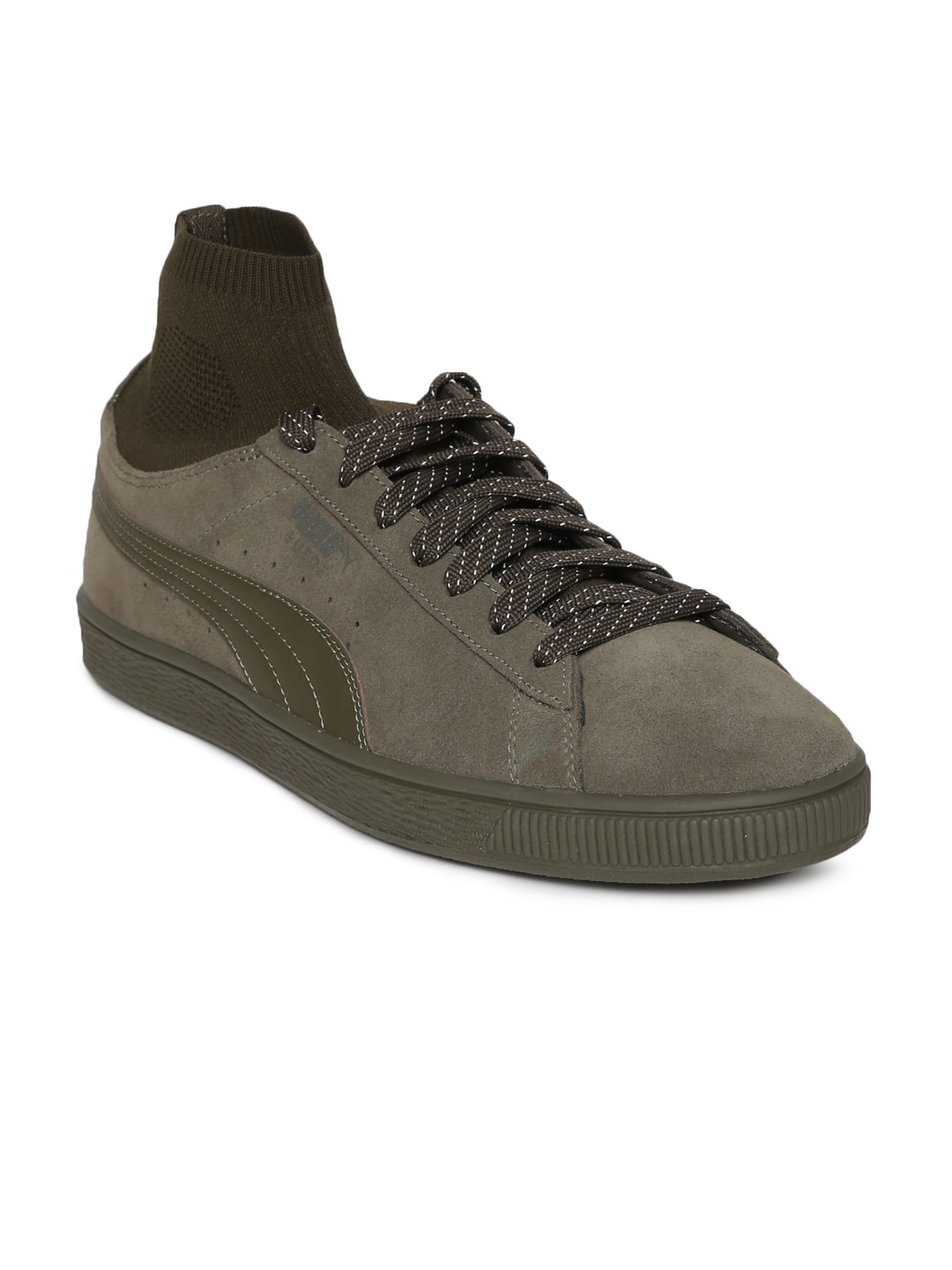 Puma R698 Allover Suede Olive Sneakers for Men online in India at ... 0ebc938bd