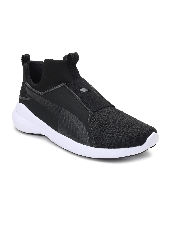 d183b8edcb6368 Buy Puma Women Olive Green Solid Rebel VR Mid Top Slip On Sneakers ...