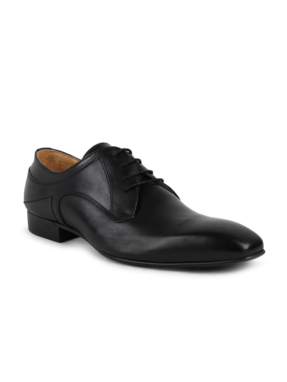 2922f06ec09 Buy Steve Madden Men Black Leather Henson Formal Derbys - Formal ...