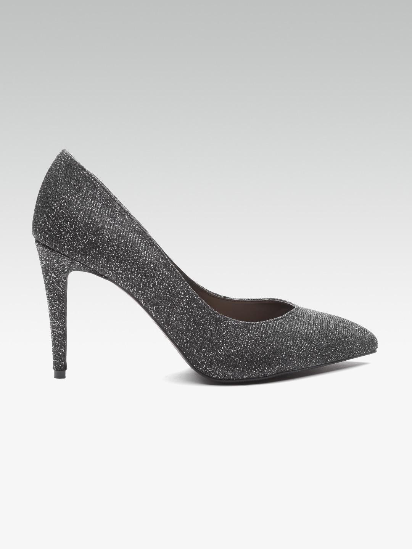 151e1b02bf1a Buy DOROTHY PERKINS Women Charcoal Grey Shimmer Slim Heels - Heels ...