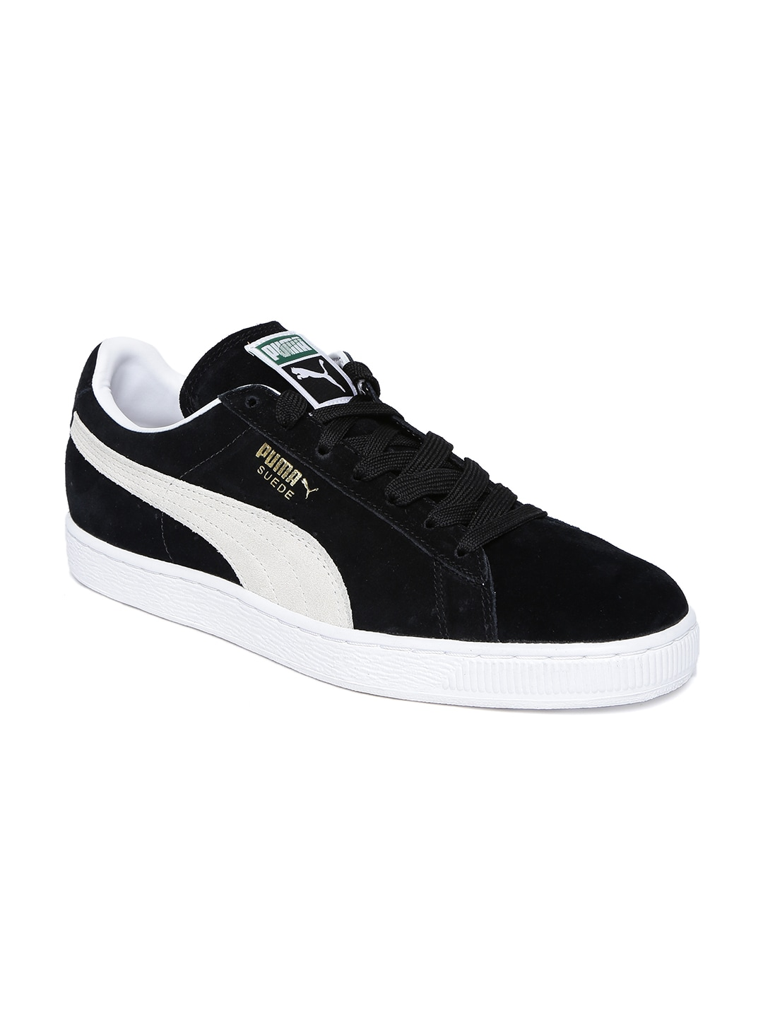 ac0cf38fb77c3d Buy Puma Men Black Suede Classic Perforation Sneakers - Casual Shoes ...