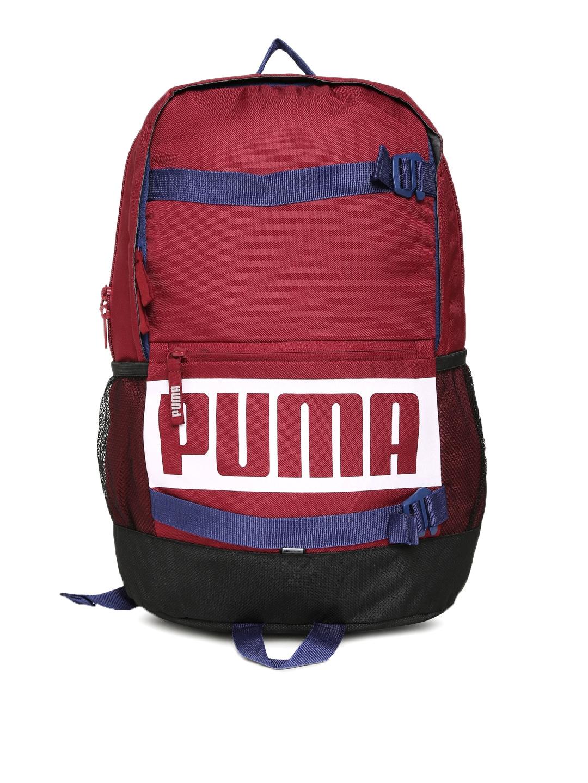 ed7f478145 Buy Puma Unisex Grey   Black Brand Logo Deck Backpack - Backpacks ...