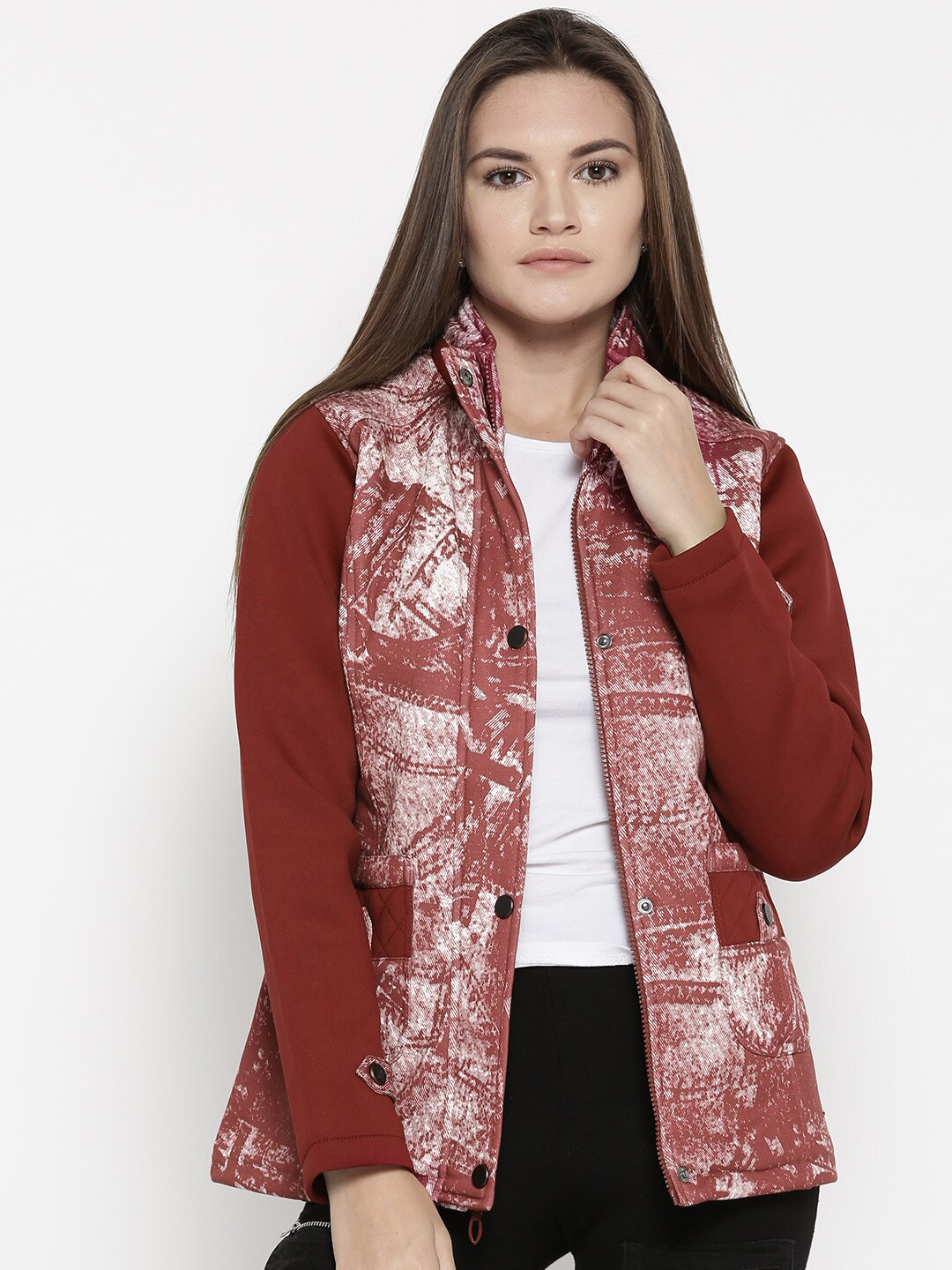 Buy Duke Peach Stardust Solid Women Quilted Coloured Jacket rrx7awq