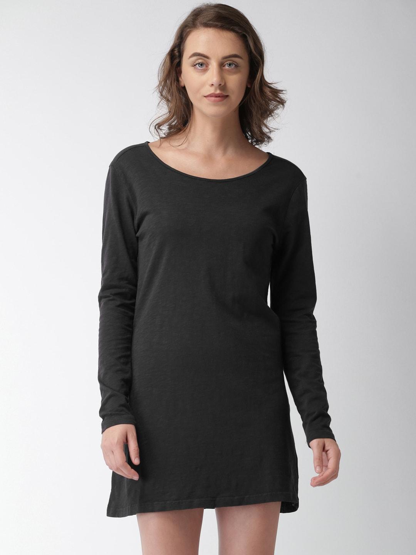 e1fff9dfe63f Buy D Muse Black Tulip Dress - Dresses for Women 620901 | Myntra