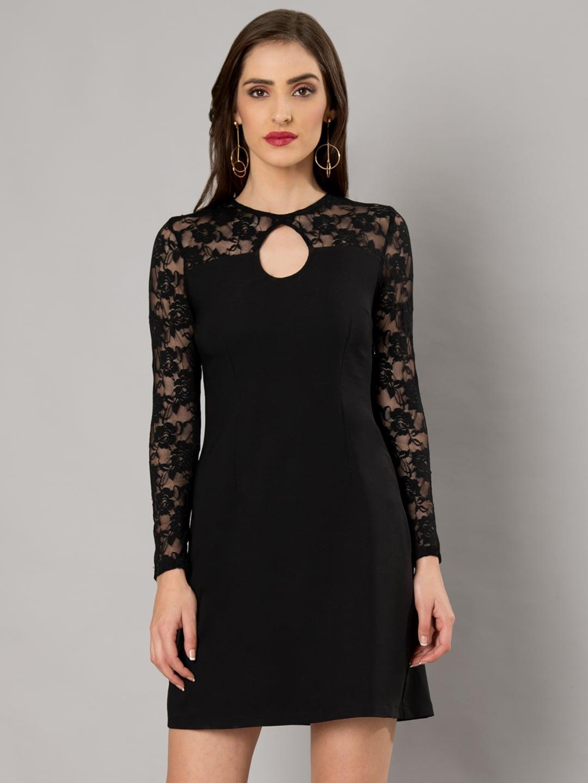 Buy SELA Black Shift Dress - Dresses for Women 1032412  b3e5286d9