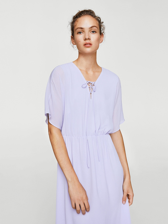 6bd833e511 Buy MANGO Women Off White Solid Linen Maxi Dress - Dresses for Women ...