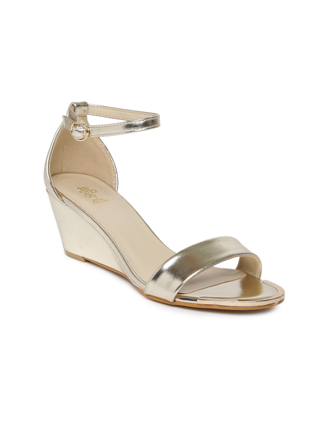 Tresmode Golden Wedges For Women Get Stylish Shoes For