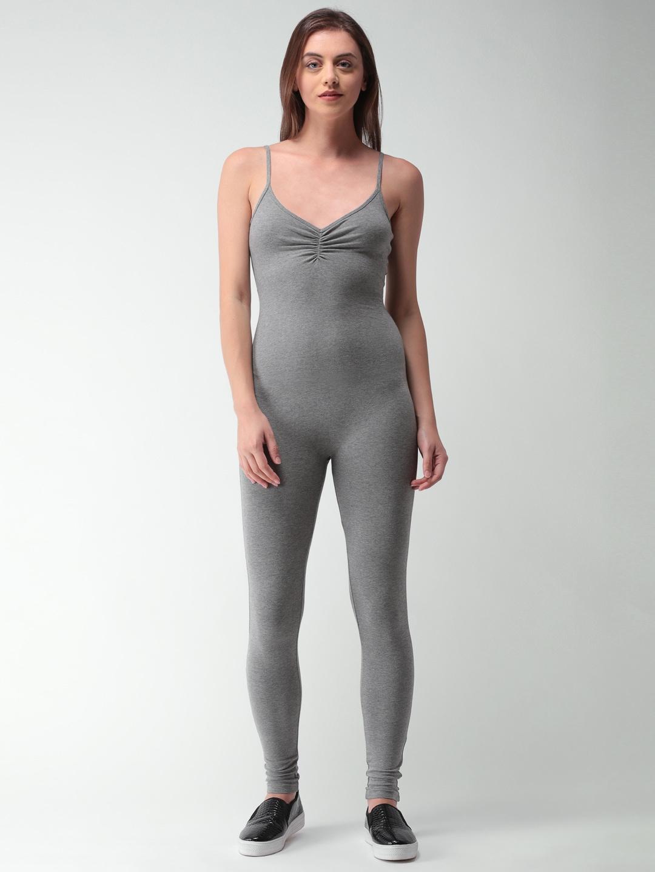 be3cf859dff Buy FOREVER 21 Burgundy Solid Basic Jumpsuit - Jumpsuit for Women ...