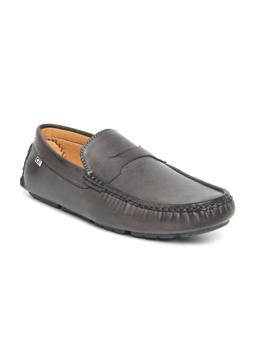 66e9ed796a5 Buy Arrow Men Coffee Brown Leather Tassel Loafers - Casual Shoes for ...