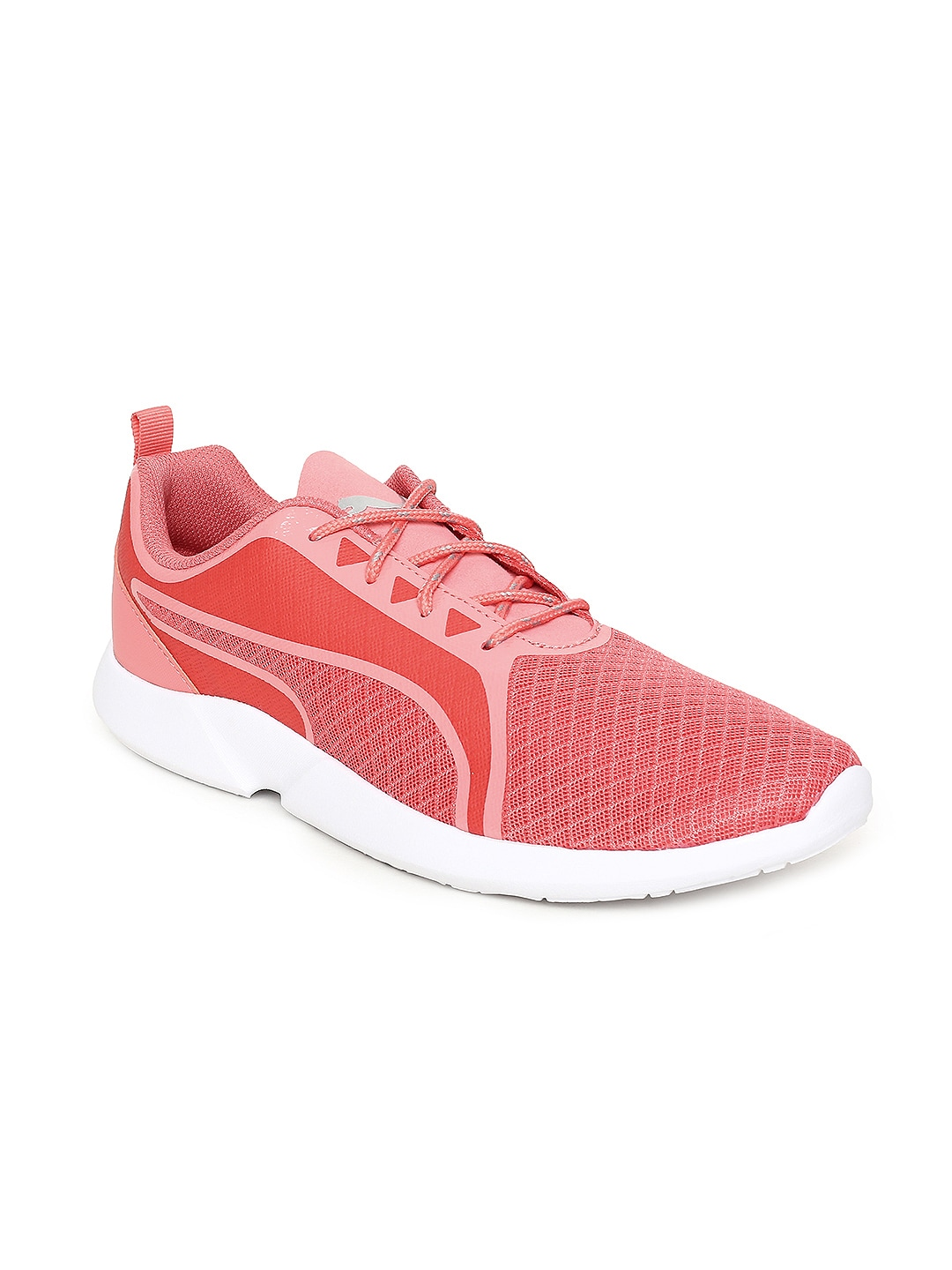 Buy Puma Women Pink   White Pacer Next Cage GK Woven Design Sneakers ... c1d070f03