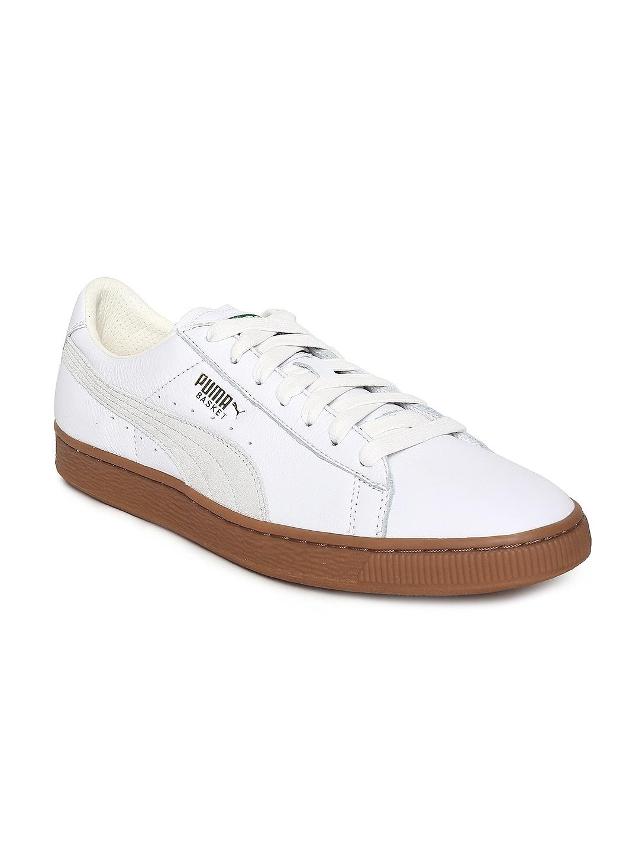 a372fdbe8cb2 Buy Puma Men Taupe Leather Basket Classic Strap CITI Sneakers ...