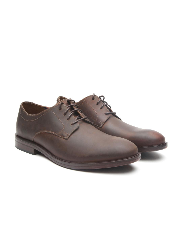 Clarks Men Brown Mckewen Leather Derbys